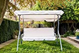 WestWood BIRCHTREE Garden Metal Swing Hammock 3 Seater Chair...