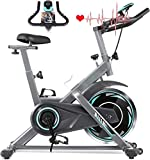 Exercise Bike, Indoor Cycling Bike Stationary with Heart Rate...