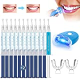 Teeth Whitening Kit, iFanze Teeth Whitening Gel Kit with LED...