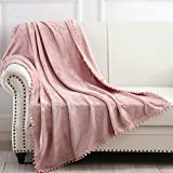 NordECO HOME Flannel Throw Blanket - Soft Cozy Warm Blanket with...