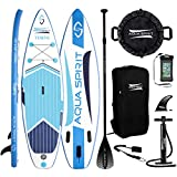AQUA SPIRIT iSUP Inflatable Stand up Paddle Board for Adult...