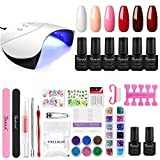 SHELLOLOH Gel Nail Polish Starter Kit 36W Nail Lamp Dryer Set...