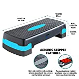 2 Level Adjustable Yoga Step Aerobic Fitness Stepper With Free...