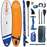 "Aquaplanet MAX SUP Inflatable Stand Up Paddle Board Kit | 6""..."
