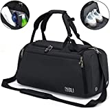 Sports Duffle Bag with Shoes Compartment and Wet Pocket, 42L...