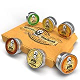 Moustache Wax Kit 6x15ml Tins Premium Strong Wax for Men - for...
