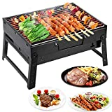 Portable Mini Charcoal Barbecue Grill Suitcase Style, Durable...