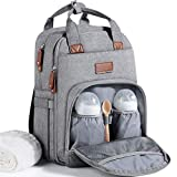 Baby Changing Bag Backpack, Diaper Bag Nappy Back Pack with...