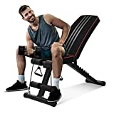 OUNUO Adjustable Weight Bench - Utility Foldable Workout Bench...