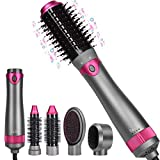 Hot Air Brush Set, Upgrade Interchangeable 5 in 1 Hot Air Brushes...