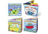 Set of 4 Baby Bath Books | First Words ABC Letters & Numbers |...