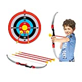 Kids Archery Bow Arrow Toy Set with Targets, Suction Cup Arrows...