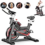 Fnova Exercise Bike Indoor Cycling for Home/Gym Use with Heart...