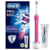 Oral-B Pro 650 3D White Electric Rechargeable Toothbrush Powered...