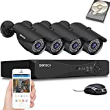 [TRUE 1080p] SANSCO HD CCTV Camera System, 4 Channel 5MP...