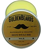 Organic Moustache Wax - 15ml 100% | Natural Golden Beards |...