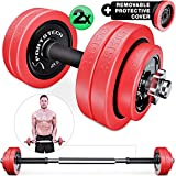 Sportstech 2in1 innovative Dumbbell & Barbell Set with Silicone...