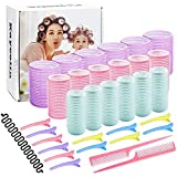 Hair Rollers Set,18 Rollers, 25mm, 30mm, 44mm, 12 Duckbill Clips,...