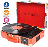DIGITNOW! Chargable Briefcase Retro Record Player Bluetooth with...