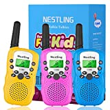 Nestling 3 Pack Walkie Talkies for Kids, Two-Way Radios Toys with...