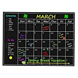 Top Home Solutions® Monthly Planner Memo Board Chalkboard...