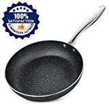 Frying Pan Induction 24cm, Stone-Derived Nonstick Coating...