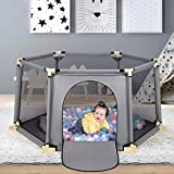 Baby Playpen, 6-Panel Portable Play Yard Playpen, Large Activity...