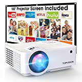 """Projector, TOPVISION 6000L Mini projector with 100"""" Projector..."""