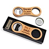 Personalised Custom Bamboo Bottle Opener + Gift Box | Design A...