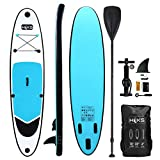 HIKS Blue 10ft / 3m Stand SUP Board Set Inc Paddle, Pump,...