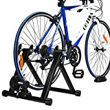 COSTWAY Fluid Bike Trainer Stand, Indoor Turbo Trainers with...