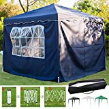 SiKy 3x3M Pop Up Gazebo Tent, Outdoor Folding Canopy with...