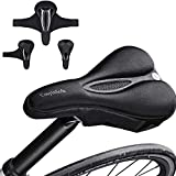 Bike Seat Cover padded, Extra Soft Comfort Bike Saddle Cover...