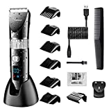 Hatteker Professional Hair Clipper Cordless Clippers Hair Trimmer...