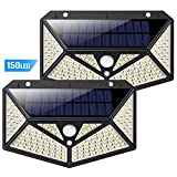 Solar Lights Outdoor 150 LED, Kilponene【6-Side Illumination...