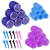 30Pcs Hair Rollers Set, 18 Pieces Self Grip Holding Hair Rollers...