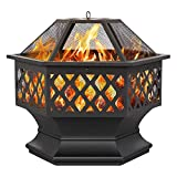 Yaheetech Outdoor Fire Pit Patio Heater for Camping Bonfire, Iron...