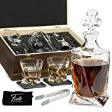 Whiskey Stones Gift Set for Men & Women - Whiskey Decanter, 2...