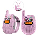 QNIGLO Rechargeable Kids Walkie-Talkies with FM Radio, 2 Miles...