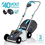 SWIFT 40V Cordless Lawn Mower Hand Propelled Lawnmowers with...