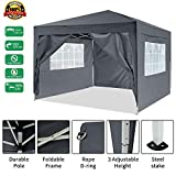 [UK STOCK] 3x3mtr Pop Up Garden Canopy Waterproof Gazebo Camping...