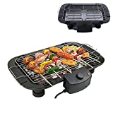 Electric Smokeless Portable BBQ Barbecue Grill Indoor Cooking...