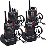 Nestling 4 Pack Walkie Talkie USB Rechargeable Walkie Talkies...