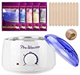 Wax Warmer Hair Removal Home Waxing Kit with 5 Flavors Stripless...
