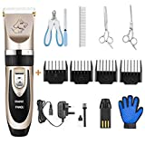 PANGU Dog Clippers Professional Pet Grooming Kit Low Noise,...