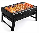 UTTORA Barbecue Grill,Portable BBQ Grill Charcoal Stainless Steel...