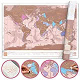 Luckies of London   Scratch Map Rose Gold Edition   World Map...
