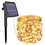 Kolpop Solar Fairy Lights Outdoor, 79ft/24m 240 LED Solar String...