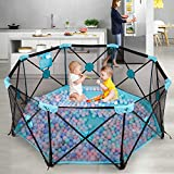 Hadwin Baby Playpen, 8 Panel Foldable and Portable Play Yard for...
