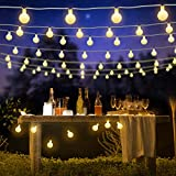 BlueFire 31ft 50 LED Ball Fairy Lights Plug In, 8 Lighting Modes...